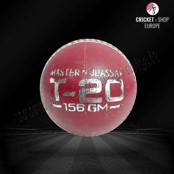 CRICKET BALL 156 GRM IN HARD PLASTIC (PRACTICE BALL) RED